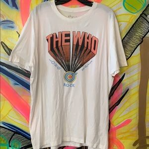 """Vintage Lucky Brand """"The Who"""" Single-Stitch Tee XL"""